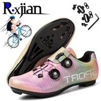R.XJIAN Novos Homens e Mulheres Ao Ar Livre Profissional Não-Slip Desgaste Resistente à Fivela Rotativa Ciclismo Sapatos Jogging Sapatos