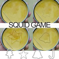 TV Squid Game Sugar Biscuit Tools 1 Set Candy Cake Mold Tool Halloween Party Games Umbrella Round Triangle DIY Creative Kitchen Bakeware XD24894