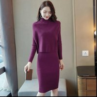 Autumn Oversize Vest Sweater Womenpant Knitted Bodycon Dress Suits Solid Slim Casual Two Piece Set K239