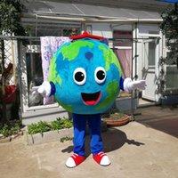 Costume de mascotte de la masse de la terre d'Halloween Qualité Dessin animé Sphère Sphère Thème Carnaval Unisexe Adultes Tentage de Christmas Anniversaire