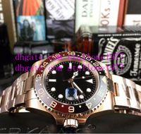 Mens Super BP Watch Factory V2 Qualidade ETA 40mm GMT Batman Cerâmica 18k Cal Cal.2813 Movimento Relógios Automáticos R35