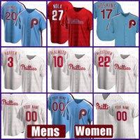 Filadélfia Mens Phillies Mulheres Baseball Jersey 10 Jt RealMuto Bryce Custom 3 Harper 20 Mike Schmidt 10 Darren Daulton 45 Tug McGraw
