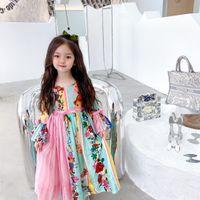 Abiti da bambina di alta qualità per bambini 2021 estate bambini ragazza fiore principessa abito primavera moda cotone cotone abbigliamento