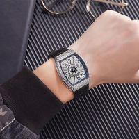 Branded Watch Designer Frank Icay Star Diamond Barrel Herren FM Müller Quarzuhr