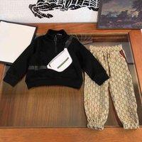 2021ss fashiong зима набор одежда детский костюм спортивные десингеры бренд мальчики толстовки брюки 2 шт. Костюмы с длинным рукавом хлопок детская бутик одежды DMQ3