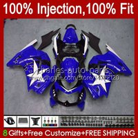 Injection pour Kawasaki Ninja ZX250R Bleu Glossy EX250 ZX250 08 09 10 11 12 13HC.168 ZX 250R EX250R ZX-250R 2008 2009 2011 2011 2011