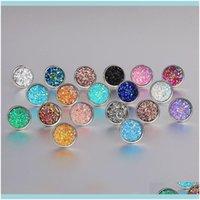 Jewelryfashion Imitation Stone Crystal Stud Earring Round Gypsophila Druzy Earrings For Women 16 Colors Engagement Wedding Jewelry Gifts Dro