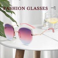 OIMG جديد عالية الوضوح النظارات الشمسية العصرية السيدات العلامة التجارية مصمم النظارات الشمسية الفاخرة إطار معدني في الهواء الطلق uv400 نظارات