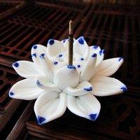 Lotus Incense Burner Holder Ceramic Handicraft For Home PLD Fragrance Lamps