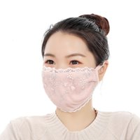 Mask Autumn and Winter Lace Fashion Warm Embroidered Cold Proof Advertisement Flower Dustproof Lady MCVG