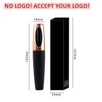 아니오 로고! 4D 실크 섬유 속눈썹 마스카라 방수 마스카라 화장품 메이크업 속눈썹 확장 로고를 받아들입니다.