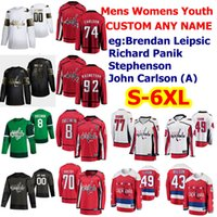 Día de San Patricio Washington Capitales Hockey Jerseys Alex Ovechkin Braden Holtby Tom Wilson T.J. OSHIE EVGENY KUZNETSOV CUSTOM STITCHE