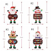 Ornements de Noël Papier Panneau Porte Fenêtre suspendu Pendentif accueil Merry Boards Noël Décortations Santa Claus Snowman Décorer des jouets créatifs
