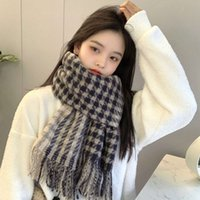 2021 autumn and winter warm fashion casual scarf versatile banquet party shawl imitation cashmere P0P8