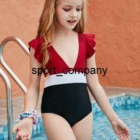 Ruffle Summer Kid Baby Bikini Swimwear Toddler Children and Teen Girls One-Piece Swimsuit Bathing Suit Beach Wear 2021 Monokini