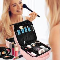Nuevas bolsas de cosméticos para mujer Maquillaje de moda Portátil bolsa de almacenamiento EVA división diseño colorido de alta gama de almacenamiento multifuncional Bas