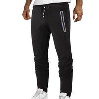 Men's Pants Autumn And Winter Sports Casual Trousers Cotton Zipper Pocket Mid-waist Sweatpants Tracksuit Bottoms Skinny