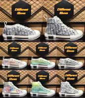 Diseñadores de lienzos clásicos Dunks Zapatos casuales Tecnología oblicua B23 Entrenadores para mujer Para mujer Pares de lujo Plataforma al aire libre Tiradores de zapatillas de deporte