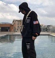 Streetwear Travis Scott Algodón NASA Sudadera con capucha Moda Pantalones de impresión Otoño Invierno hombre mujer Hip Hop Casual Deportes Pantalones Top con capucha suelta
