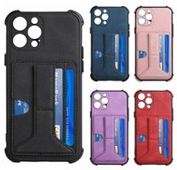 With Pack Wallet Leather Shockproof Soft TPU Cases For Iphone 13 Pro MAX 12 Mini 11 XR XS 8 7 iPhone13 Pull 2 ID Card Slot Holder Flip Cover Phone Business Girls Pouch