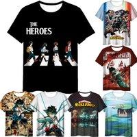 Men's T-Shirts Summer Men Unisex Boku No Hero Academia Season 5 3D T Shirts Adult Cartoon Anime Short Sleeves Tshirt Camiseta Hombre