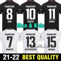 21 22 22 Eintracht Frankfurt Soccer Jerseys 2021 Maillot Piedio Camicia Kostic Jovic Kamada Fernandes De Guzman Silva Paciencia Chandler Football Uniform