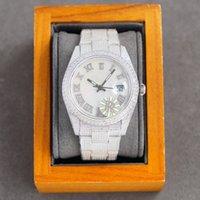 Voller Diamant Herrenuhr Mechanische Automatische Uhren Sapphire 41mm Gurt Diamant-Nietenstahl Damen Mode Armbanduhren Armband Montre de Luxe Hohe Qualität