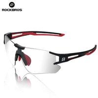 Rockbros photochromic radfahren fahrrad sonnenbrille laufend camping wandern brille sport männer eyewear uv400 sonnenbrille goggles x0726