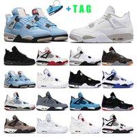 Mens Basketball Shoes 4s Jumpman 4 White Oreo University Blue Black Cat Fire Red Women Taupe Haze Sport Sneaker Trainer