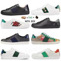 2021 Hommes Femmes Italie Ace Designer Chaussures Luxe Quality Snake Noir Blanc Cuir Bee Shoes Vintage Star Streak Snake Sneakers Baskets N ° 88