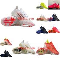 2021 Erkek Kadın Futbol Ayakkabıları X Speedflow + FG Kırmızı / Çekirdek Siyah / Güneş Kırmızı Cleats Yüksek Kaliteli Futbol Çizmeler için Örme Su Geçirmez