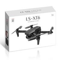 LSRC LS-XT6 بدون طيار 4 كيلو hd المزدوج عدسة مصغرة الطائرات بدون طيار wifi 1080 وعاء في الوقت الحقيقي انتقال fpv بدون طيار كاميرات مزدوجة طوي rc quadcopter لعبة