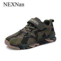 Nexnan Camouflage Jungen Schuhe für Kinder Turnschuhe Kinder Freizeitschuhe Mädchen Turnschuhe Atmungsaktive Mesh Lauftrainer im Freien 210308