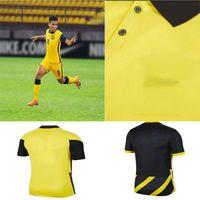 Promoção2021 2022 Malásia National Soccer Jersey 20 21 Home Amarelo Away Black Safawi Rasid Norshahrul Ldlan Talaha Adulto Futebol Shi