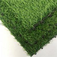 وصول جديد يمكن تقسم العشب الاصطناعي 30 سنتيمتر * 30 سنتيمتر صديقة للبيئة البلاستيك المحمولة المنزل حديقة الديكور الأخضر السجاد GWD5503