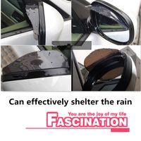 Стайлинг автомобиля Зеркало заднего вида Стикеры Rain Brow для Mercedes Benz W211 W203 W204 W210 W124 AMG W202 CLA W212 W220 W205 W201 A
