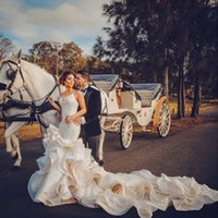 Vestido De Novia Sweetheart beaded Lace Ruffles Mermaid wedding Dress Sleeveless backless trumpet Bridal Gowns 2021 berta cheap