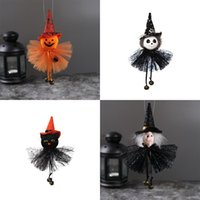 Party Supplies Halloween Decoration Hanging Pumpkin Ghost Witch Cat Doll Pendant Horror House Bar Ornaments 877 B3