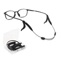 블랙 탄성 실리콘 안경 스트랩 선글라스 체인 파란색 안경 체인 눈 착용 코드 홀더 넥 스트랩 로프 275 T2
