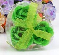 Сердце формы розовое мыло из PVC коробка упакована ручной работы цветочная бумага цветок мыло мыло роза валентинок день день рождения подарки 160 v2