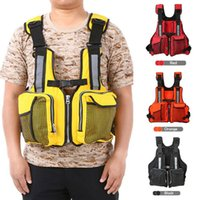 Life Vest & Buoy Adult Adjustable Jacket Multi Pockets Buoyancy Safe Sailing Reflective Saver Tank Top Watersport