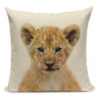 Cushion Decorative Pillow Animal Series Tiger Elephant Monkey Cushion Cover Home Decor Dakimakura Friends Tv Show Case Farmhouse