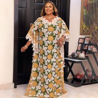 Ethnic Clothing MD Lace African Dresses For Women Plus Size Boubou 2021 Africa Clothes Dashiki Long Robe Africaine Femme Wedding Party Gowns