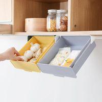 Hooks & Rails 2 Types Kitchen Shelf Self-Adhesive Under Condiments Jar Rack Bottle Spice Holder Tableware Seasoning Organizer Stora W5S6