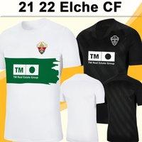 2021 2022 ELCHE CF Roco Mens Futebol Jerseys Carrillo Guti Morente Fidel Josan Marcone Home Whiet manga curta camisa de futebol uniformes
