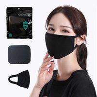Новая черная хлопковая маска классическая мода моющиеся многоразовые пылезащитные маски мужские и женщины наружные защитные маски оптом