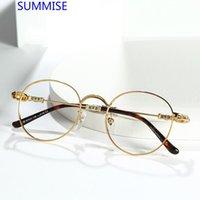 Moda occhiali da sole Cornici riassunti Titanio Telaio prescrizione Myopia Eyeglasses Chrome Heart Style Style Men Donne Personalizza Occhiali ottici Top Q