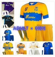 Adult Kids Kit 2022 México Uanl Tigres Jersey 7 Estrelas C.Salcedo Gignac Pizarro Camisa de Futebol Camiseta de 2021 Liga MX