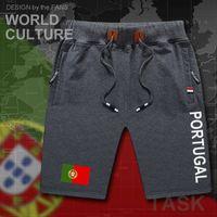 Portugal mens shorts beach new men's board shorts flag workout zipper pocket sweat casual clothing flag PT Portuguesa X0601