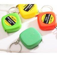 Mini Maßband 1m Tragbares Band Kunststoff mit Schlüsselanhänger Ziehen Machthaber Messwerkzeuge Mischfarben Geschenk für Stud Jllwbz Warmslove